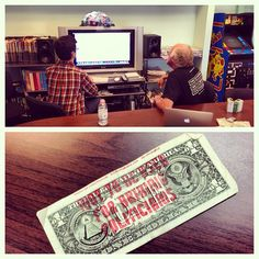 """@shorefire on Instagram from 6.24.13: """"Ben Cohen, co-founder of #BenAndJerrys Ice Cream and founder of #StampStampede is in the office today for a Reddit AMA. Go ask him anything!"""""""