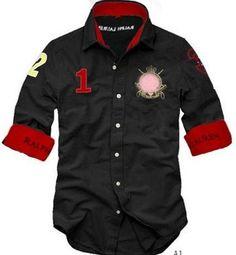 Hot Sell  Style* Men's Cotton 100% Fashion Shirt   Comfortable Shirts Tshirt T-shirt 5 Size  ralph lauren