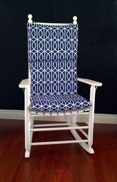 Rocking Chair Cushion Cover for baby nursery. Dwell Studio Bella Porte Twilight by RockinCushions, $79.00