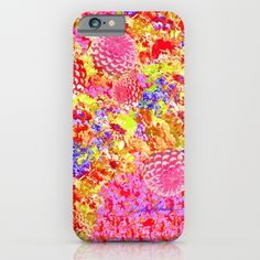 Daisies for Mum iPhone & iPod Case by Vikki Salmela, #pink #yellow #flower #mums #garden #art on #fashion #tech #accessory #cases for #iPhone #phone #Samsung. Perfect #gift for #her, #travel or #office.