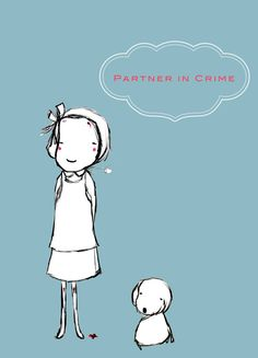 Partner in Crime print by Juneinberlin on Etsy, €11.00