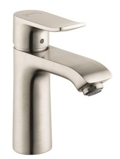 Delta Nyla Stainless Handle Single Hole WaterSense Labeled - Bathroom sink faucet drain assembly