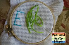 Pink and Green Mama: Sewing With Kids: Cross-Stitch. I never thought to teach my kids how to do this. I bet my almost 8 year old son would like to try this.