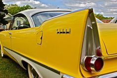 Vintage Yellow 58 Plymouth