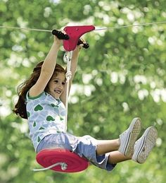 Our Slacker Eagle series kids' zipline set turns backyards into thrill zones. Simple to set up, this quality yard zipline kit will get lots and lots of use! Indoor Playhouse, Build A Playhouse, Outdoor Toys, Outdoor Play, Outdoor Living, Outdoor Spaces, Outdoor Stuff, Indoor Outdoor, Kids Zipline