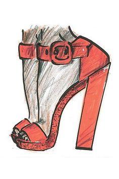 Bruno Frisoni for Roger Vivier Spring 2012 Stylish Orange High Heel Sandals.