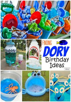 Finding Dory and Nemo Party ideas 2nd Birthday Parties, Birthday Fun, Birthday Ideas, Summer Party Themes, Party Ideas, Party Time, Diy Hacks, Birthdays, Sea