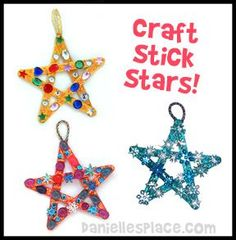 Craft stick Star Bible Craft for Sunday School from www.daniellesplace.com with star template