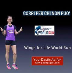 Corriamo insieme per chi non può correre. Iscriviti entro il 28 aprile su www.wingsforlifeworldrun.com e sostieni la ricerca per le lesioni al midollo spinale. Dichiara quanti km pensi di fare prima che la catcher car ti prenda e unisciti al team YourDestinAction. Insieme si vince!