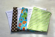 Burp Cloth Set of Three The Different States USA by DixieBloom