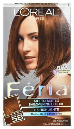 L'Oreal Feria Haircolor, Bronze Shimmer 58 1 ea -- Continue to the product at the image link.