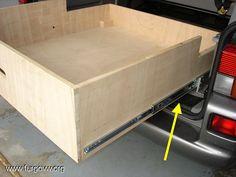 Plans for rear drawer in VW Vw T5, Volkswagen, T4 Camper, Van Storage, Off Road Trailer, Transporter, Plein Air, Van Life, Jeep