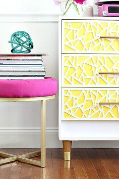 DIY: Mid Century Modern and Bright Ikea Hack