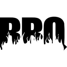 BBQ flames - Black