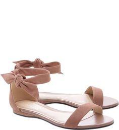 438753b91 Sandália Rasteira Lace-up Nobuck Smoke Rose Sapatos Rosa, Sapatos De Verão,  Sapatos