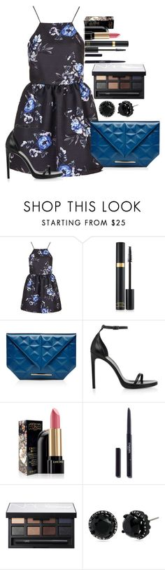 """""""Untitled #1302"""" by fabianarveloc on Polyvore featuring Topshop, Tom Ford, Roland Mouret, Yves Saint Laurent, Lancôme, Chanel, NARS Cosmetics and Betsey Johnson"""