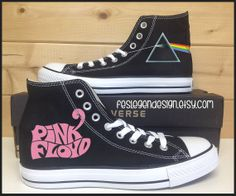 Pink Floyd 'DSoM' Custom Converse / Painted by FeslegenDesign, $65.00 #PinkFloyd #Converse #PaintedShoes