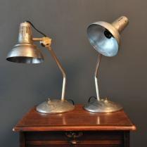 Lampe vintage en métal style indus