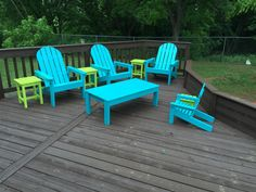 Adirondack chairs for the entire family, build it!