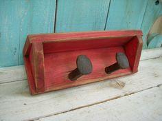 Shabby Railroad Spike Shelf  Rustic French by honeystreasures, $70.00