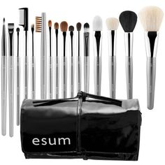 Esum Makeup Connoisseur Brush Set One Size (3 735 ZAR) ❤ liked on Polyvore featuring beauty products, makeup, makeup tools, makeup brushes, powder brush, blush makeup brush, shadow brush, set of brushes and makeup powder brush