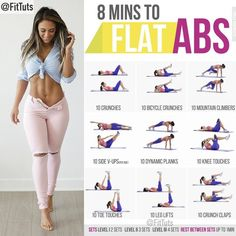 8 mins to flat abs workout! Will you do it? 💪🏻 ���