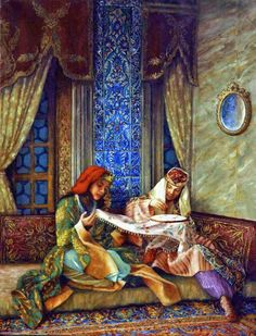 Kamil Aslanger - Ottomans - Ideas of Ottomans Empire Ottoman, Arabian Art, Turkish Art, Historical Art, Old Paintings, Art Plastique, Ancient Art, Islamic Art, Vintage Art