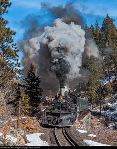Colorado and New Mexico Narrow Gauge Steam Railroads at Durango and Silverton Narrow Gauge Railroad DRGW478 on the High Bridge steel trestle (MP 471.23), eastbound at Tacoma, Colorado, February 21, 2011. Photo by Kevin Madore. This engine is an Alco K28, built in Schenectady, NY in 1923 for the Denver & Rio Grande Western narrow gauge. It has the distinctive nose-mounted air pumps, and in this photo is sporting a vee plow. DRGW478 is one of just three still in existence. The D&RGW bought 10…