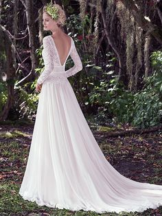 Maggie Sottero Deirdre | Festival wedding gown | Available from Astra Bridal |