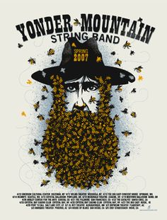 Yonder Mountain String Band I Poster I Music Design Rock Posters, Band Posters, Concert Posters, Music Posters, Gig Poster, Bluegrass Music, Music Theater, New Music, Live Music