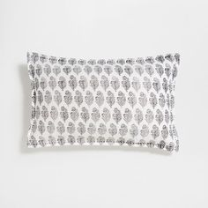 Image of the product Faded linen printed cushion cover