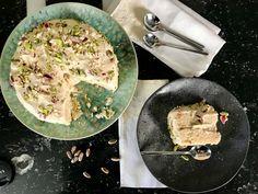 τούρτα χαλβά νηστίσιμη - κομψή γεύση & vegan - Pandespani.com Palak Paneer, Pork, Vegan, Cake, Ethnic Recipes, Kale Stir Fry, Kuchen, Vegans, Torte