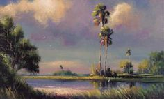 """""""Florida Highwaymen Art: News, Info and Paintings. In the early 1950's through the 1980's a group of twenty-six African-American artists known as the 'Florida Highwaymen' used vivid and bright colors to display the beautiful untouched Florida landscape."""" Once considered """"outsider art,"""" these paintings are now highly collectible. Click through to learn more and see more of their gorgeous works."""