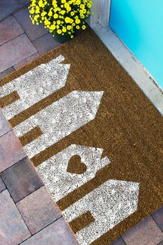 Home is where the heart is! #DIY your doormat
