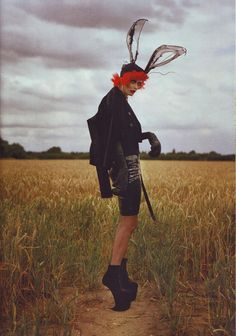 Alexander McQueen/Tim Burton photoshoot by Tim Walker. From Bazaar's October 2009 issue.