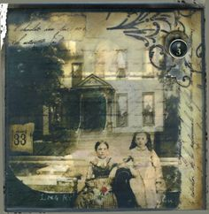 Encaustic, beeswax, mixed media collage. The House We Live In