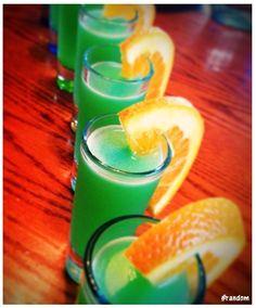 1 oz Vodka 1/2 oz Peach Schnapps 1/2 oz Blue Curaco 3 oz Orange Juice 3 oz Sprite Good as a shooter or a full-sized summertime drink!