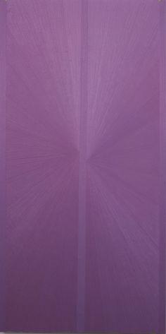 Mark Grotjahn    Untitled (Lavender Butterfly Jacaranda over Green)    2004  Oil on Linen  178 x 89 cm