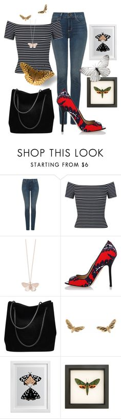 """""""Moth to the Flame"""" by glamourgrammy ❤ liked on Polyvore featuring NYDJ, Miss Selfridge, Alex Monroe, Dsquared2 and Gucci"""