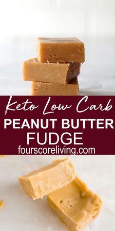 Keto Peanut Butter Cookies, Low Carb Peanut Butter, Keto Cookies, Easy Peanut Butter Fudge, Cacao Butter Recipes, Peanut Butter Recipes, Fudge Recipes, Keto Desert Recipes, Keto Recipes
