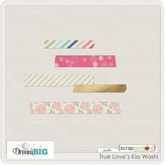 Quality DigiScrap Freebies: True Love's Kiss washi freebie from Dream Big Designs