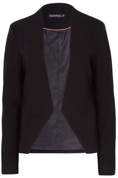 """When it comes to smart separates it's all about the details, the Cassie Jacquard Jacket combines a beautiful embossed feel fabric with an elegant tailored fit. Length of jacket.Please note: Sizes shown are UK sizes. Please see 'view size guide' forinternational conversions.    Measures: 22"""" L   Jacquard Black Jacket by Sugarhill Boutique. Clothing - Jackets, Coats & Blazers - Jackets - Blazers Bristol, South West England, England, United Kingdom"""