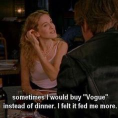 Please make sure to follow me now on Instagram @ashleesarajones Carrie (at one point stated exactly what is used to do and feel)!! #carriebradshaw #sexandthecity #highfashion #fashion #style #quotes #vogue #feedsmore #fashionsubscribed #true #love