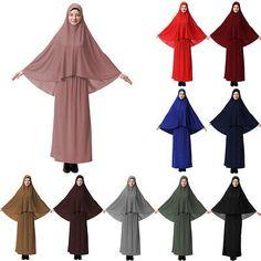 LK/_ Muslim Women/'s Prayer Hijab Long Scarf Jilbab Islamic Large Overhead Dress