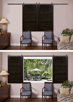Youu0027ll Be Making More Excuses To Throw Away Your Blinds. Introducing  Sliding Barn · Door Window ...