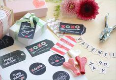 バレンタインのプレゼントに♪DIYラッピングに使えるギフトタグを無料配布|by Little Lemonade