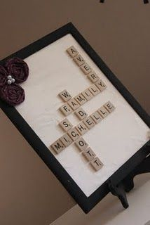 Scrabble decor idea