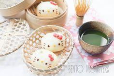 Hello Kitty Steamed Chicken Buns | Bento Monsters
