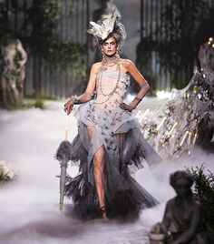 Christian Dior Couture F/W 2005                  Location: Bois de Bologne in Paris, France