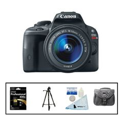 Canon EOS Rebel SL1 EF-S DSLR Camera Deal with 18-55 IS STM Lens Kit + Free Accessories